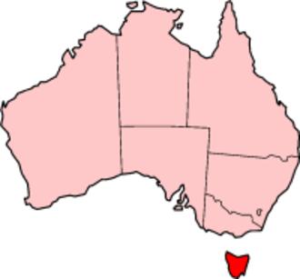 Anthony Fenn Kemp - Map of present-day Tasmania