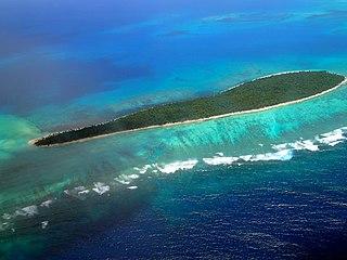 Tatafa island in Tonga