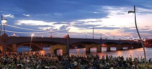 Tempe town lake bridge 07042006