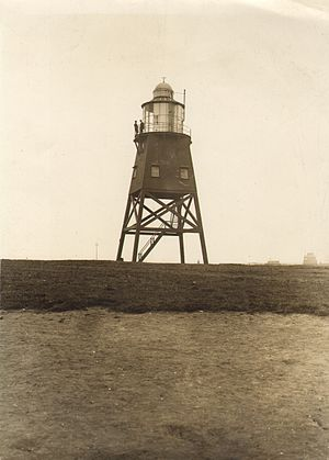Heugh lighthouse - The temporary light on the Town Moor (1915-1927)