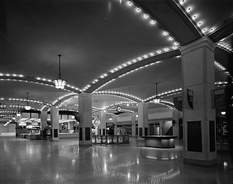 Tower City Center - Cleveland Union Terminal concourse in 1987