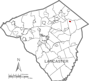 Terre Hill, Lancaster County Highlighted.png
