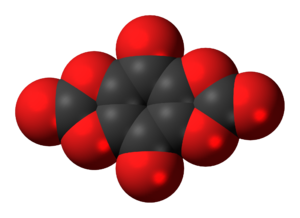Tetrahydroxy-1,4-benzoquinone biscarbonate - Image: Tetrahydroxybenzoqui none biscarbonate 3D spacefill