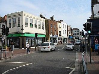 A258 road - The A258 Queen Street (cutting through Deal High Street)