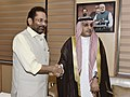 The Ambassador of Saudi Arabia to India, Dr. Saud bin Mohammed Al-Sati meeting the Union Minister for Minority Affairs, Shri Mukhtar Abbas Naqvi, in New Delhi on May 04, 2018.JPG