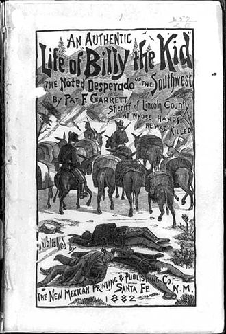 The Authentic Life of Billy, the Kid - 1882 book cover