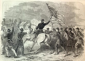 Battle of Hoke's Run - Colonel Starkweather with his Wisconsin regiment