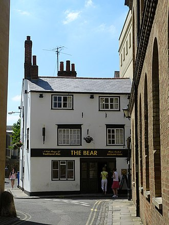Bear Inn, Oxford - View of The Bear from Bear Lane.