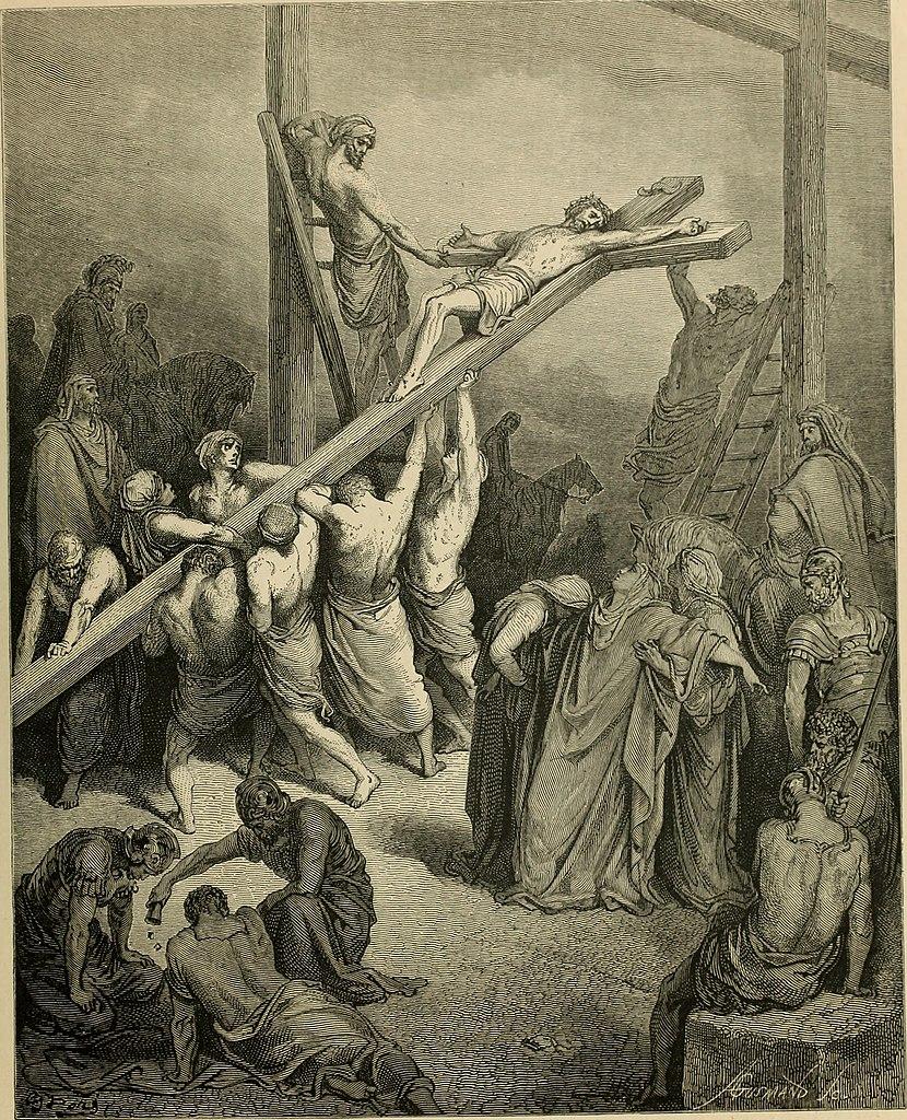 십자가를 세우다 (귀스타브 도레, Gustave Dore, 1866년)