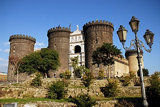 "History of Naples - The Castel Nuovo (""New Castle"") was renovated and chosen as his palace by Charles I of Anjou. The entrance is decorated by a Renaissance Arch of Triumph celebrating the entrance in the city of the Aragonese king Alfonso I (15th century)"