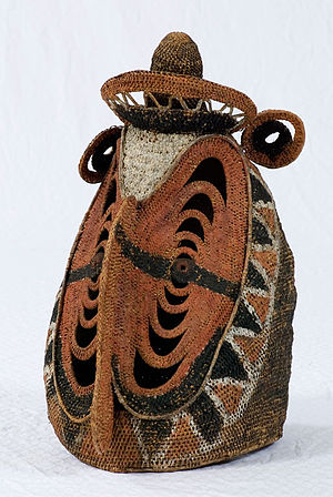 Abelam people - An Abelam yam harvest ceremony spirit mask (baba) in the permanent collection of The Children's Museum of Indianapolis