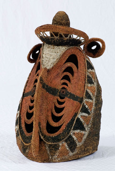 An Abelam yam harvest ceremony spirit mask (baba) in the permanent collection of The Children's Museum of Indianapolis - Abelam people