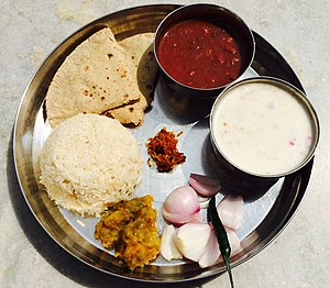 Diet in Hinduism - Image: The Complete Meal