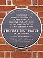 The First Test Match plaque - The Oval, Kennington Oval, London SE11 5TB.jpg