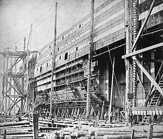SS Great Eastern - Construction of Great Eastern, August 18, 1855