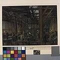 The Interior of the Brcs and Order of St John Garage, Boulogne Art.IWMART3595.jpg