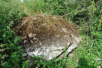 Merton, Norfolk - The Merton Stone, glacial erratic