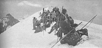 The Mountaineers (club) - Members of The Mountaineers during the club's first climb of Mount Rainier in 1909.