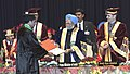 The Prime Minister, Dr. Manmohan Singh giving away the Degree to the Students, at the 3rd Convocation of Sher-e-Kashmir University of Agricultural Sciences and Technology, in Jammu on March 04, 2011.jpg