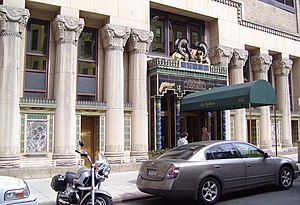 Pythian Temple (New York City) - Street level facade around the entrance