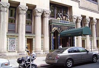 Pythian Temple (New York City) - Street level facade around the entrance