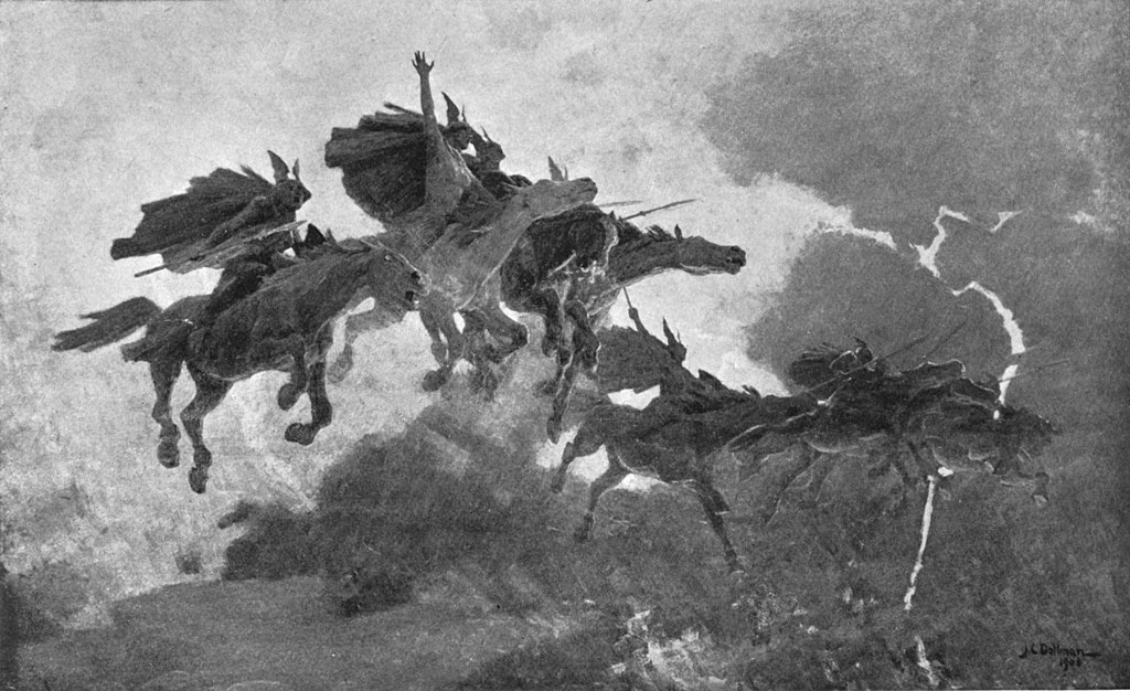 John Charles Dollman, The Ride of the Valkyrs (1909)