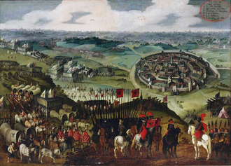 Siege of Aachen (1614) - The siege of Aachen by the Spanish Army of Flanders under Ambrogio Spinola in 1614. Oil on canvas. Attributed to Pieter Snayers.