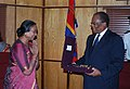 The Speaker, Lok Sabha, Smt. Meira Kumar with the Prime Minister of Swaziland, Dr. Barnabas Dlamini, at PM's office, Mbabane, Swaziland on May 10, 2010.jpg