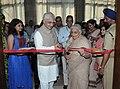 The Union Minister for Culture, Smt. Chandresh Kumari Katoch and the Union Minister for External Affairs, Shri Salman Khurshid inaugurating an Exhibition 'Return of the Yogini', in New Delhi on September 19, 2013.jpg