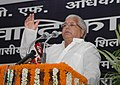 The Union Minister for Railways, Shri Lalu Prasad addressing at the Foundation Stone Laying Ceremony of the Residential Block of Railway Protection Force Officers' Mess, in New Delhi on September 21, 2007.jpg