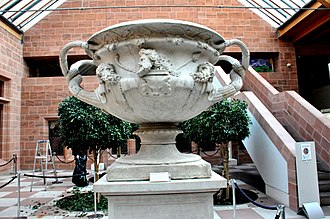 Hadrian's Villa - The Warwick Vase. From Hadrian's Villa at Tivoli. 2nd century CE. 18th century reconstruction. The Burrell Collection, Glasgow, UK