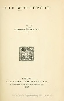 The Whirlpool by George Gissing, 1897.djvu