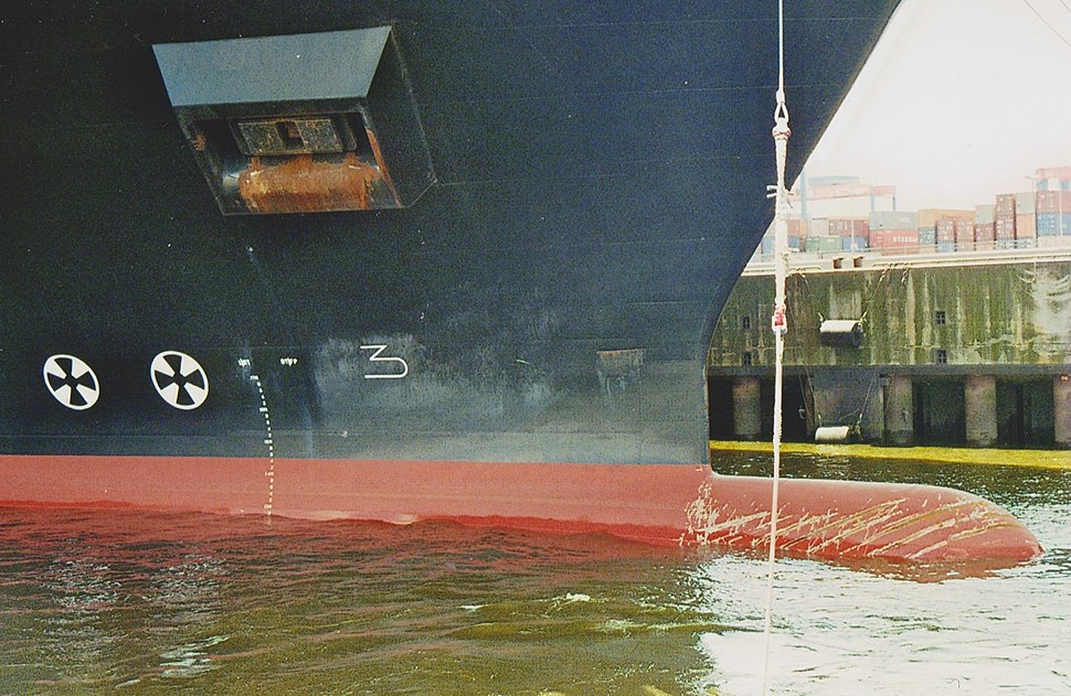The bow rope with precursor is taken from the container ship