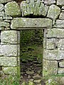 The ground floor entrance doorway to Slack's Tower - geograph.org.uk - 743391.jpg