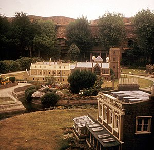 Eastbourne Redoubt - The model village which was an attraction inside the redoubt from 1957 to 1975.