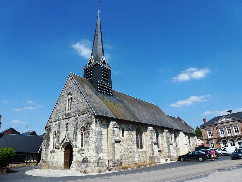 Thiberville (Eure, Fr) église Saint Taurin, extérieur