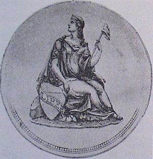 Gobrecht dollar - Thomas Sully created a depiction of Liberty seated that would form the basis for the obverse of the Gobrecht dollar.