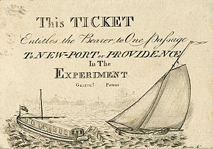 Experiment (horse-powered boat) - Ticket for Experiment