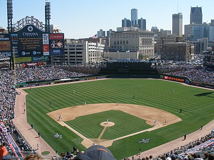 Tigers opening day 2007; view from section 324 Tigers opening day2 2007.jpg