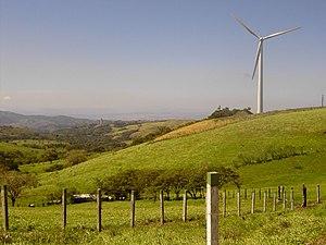Tilarán - Wind turbine in Tilarán