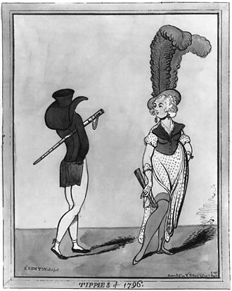 Exaggeration - Image: Tippies of 1796 caricature