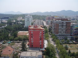 Tirana View from Sky Tower 1.JPG