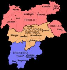 Cartina Del Trentino Alto Adige Politica.Italianizzazione Dell Alto Adige Wikipedia