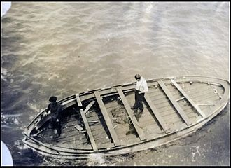 Lifeboats of the RMS Titanic - The Titanic Collapsible Boat A, on May 13, 1912.