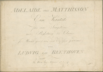 Adelaide (Beethoven) - Image: Title Page Of Original Edition Of Adelaide