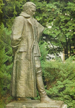 Kumrovec - Tito's statue in Kumrovec, made by the artist Antun Augustinčić (1900-1979)