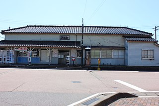 Toide Station Railway station in Takaoka, Toyama Prefecture, Japan
