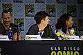 Tom Cavanagh, Grant Gustin & Candice Patton (35736812784).jpg