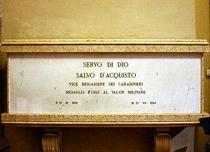 Salvo D'Acquisto - D'Acquisto's tomb in Santa Chiara, Naples