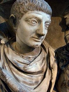 Flavius Valerius Jovinus General and consul of the West Roman empire of Gaulic or Germanic origin, born around 310 and buried 370 AD in Durocortorum (Reims).